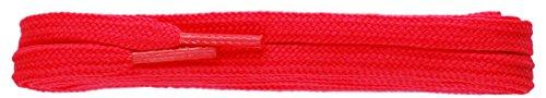Tz Platta Fluorescerande 3/16 5mm Skosnören För Skor / Stövlar / Utbildare / Plimsols Flo Laxrosa