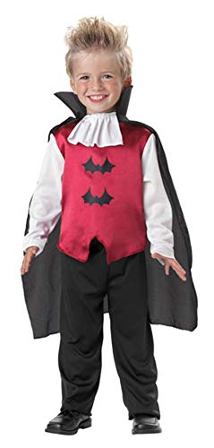 Seasons Direct Halloween Boy's Vampire Costume Red and Black