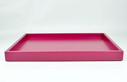 Large Decorative Ottoman Tray Raspberry Pink