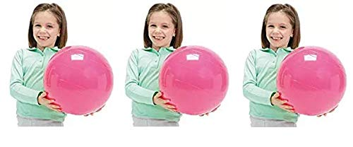 Gymnic Physio Balance Therapy Ball, 12 Inch, Pink, Holds 300 Pounds (Thrее Расk)