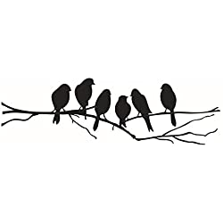 YaptheS Mercurymall;Birds ON A Wire Wall Stickers Birds Wall Stickers Quote Vinyl Wall Sticker Sitting Room Sofa Wall Bedroom Art Decoration Mural Art Wallpaper Decal