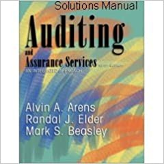 auditing and assurance services 9th edition solutions free