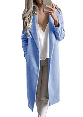 Cardigan Blue Collar Winter XINHEO Down Turn Pockets Coat Fall Big Women Wrap ggqfUvx