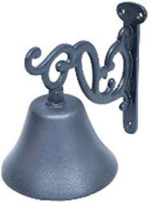 ARSUK Puerta Campana Granja Jardín Corte Campana Emitir Planchar Vendimia Estilo Pared Montado marrón/Negro/Rústico Florido (4