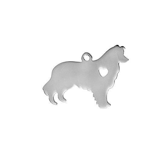 Stainless Steel Dog Pendants Shapes Dog Lover Gift Personalize with Name (Alaskan Malamute)