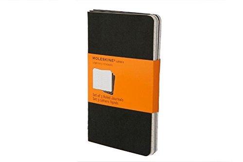 Moleskine Cahier Journal (Set of 3), Pocket, Ruled, Black, Soft Cover (3.5 x 5.5): Set of 3 Ruled Journals (English Journal)
