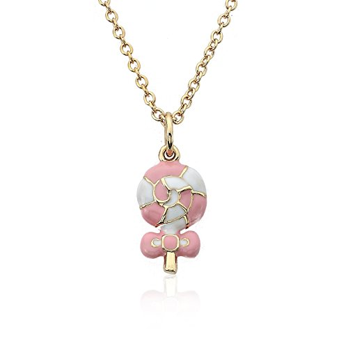 little-miss-twin-stars-candyland-14k-gold-plated-pink-and-white-swirl-enamel-lollipop-pendant-neckla
