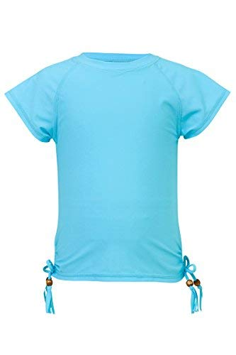 Snapper Rock Girls Short Sleeve Rash Top (Light Blue, 16) by Snapper Rock