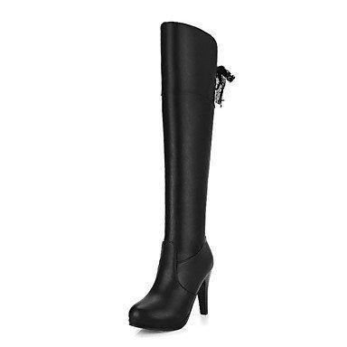 Talón Toe EU38 RTRY Zapatos Office De 5 Zipper Calf Stiletto Boots Botas Para Mid Señaló Novedad UK5 Moda CN38 5 Pu US7 Carrera Otoño Vestido amp;Amp; Botas De Mujer Primavera Comfort aa7rqpw