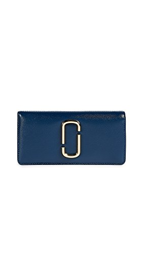 Marc Jacobs Women's Snapshot Open Face Wallet, Blue Sea Multi, One Size by Marc Jacobs