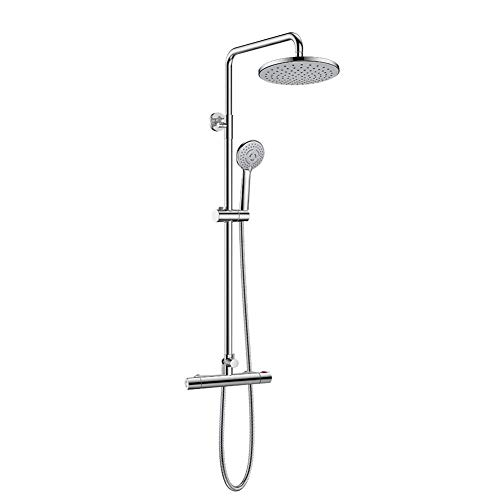 Micoe Bathroom Thermostatic Mixer Shower Valve with 8' Shower Head and Hand...