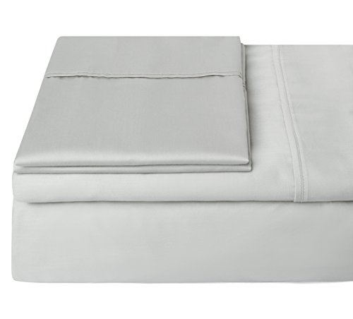 Collection 6 Piece Bedroom Suite (#1 Bedding 400 Thread Count 100% Egyptian Cotton Sheets,Long Staple Cotton,Sateen,Hotel Collection,Luxury,Bestseller Black Friday Deals,Soft Sheets & Pillowcases -Cal King (Light Gray) by Steffani)