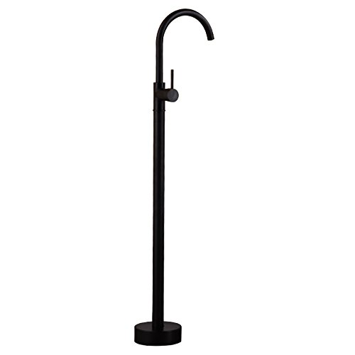 Damxied European Style All Copper Antique Black Bronze Floor Type Bathtub Faucet With Hand Spray Shower, Bathtub Side Vertical,3 Dark Split Barquality Assurance Of Modern And Simple Classic Retro Lux