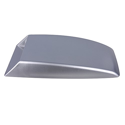Silver Aumo-mate New Universal Car Air Flow Intake Hood Scoop Turbo Bonnet SUV Vent Cover