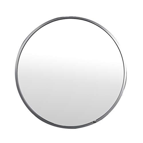 Espejo para Colgar en la Pared Redondo Espejo de Maquillaje Espejo de Maquillaje Marco de aleacion de Aluminio, Plata, con Fijaciones para Colgar 40cm / 50cm / 60cm / 70cm / 80cm