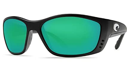 4bbb3164a Image Unavailable. Image not available for. Color: Costa Del Mar Fisch  Black Frame Green Mirror Glass /w580 Sunglasses