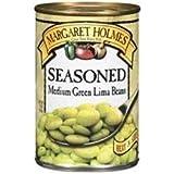 Margaret Holmes, Medium Seasoned Green Lima Beans, 15oz Can (Pack of 6)