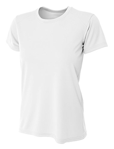 - A4 Women's Cooling Performance Crew Short Sleeve T-Shirt, White, Small