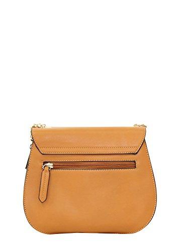 LYDC London (Farbauswahl) Damen Handtasche Kunstleder Umhängetasche Tasche Braun KFxeOO