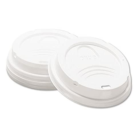 Dixie Drink-Thru Lid, Fits 8-oz. Hot Drink Cups, White, 1000/Carton (DXE9538DX) - Fits 8 Ounce Cups