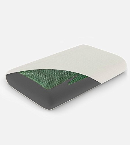 Cariloha Bamboo Gel Pillow by 100% Bamboo Charcoal Memory Foam with Cooling Gel (King)