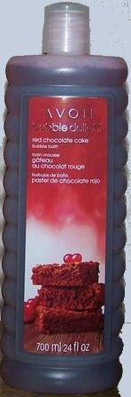 Avon Bubble Delight Red Chocolate Cake Bubble Bath 24 Fl.oz. Aroma Therapy
