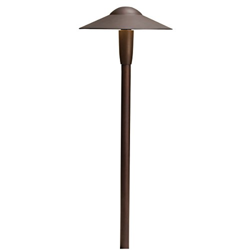 15810AZT Design Pro LED Dome 4W 12V Path and Spread Landscape Light, Textured Architectural Bronze Finish by Kichler Lighting