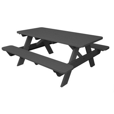 POLYWOOD Park Picnic Table Finish: Slate Grey