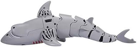 Robot Tibur/ón Radiocontrol para NI/ños Juguetes Animales para Piscina Tibur/ón Teledirigido RC con Mando Control Remoto
