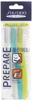 FT Shiseido Facial Razor 3pcs(L) x 2 Pack (total 6 pcs) with Premium Oil Blotting Paper Value Set