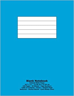 blank notebook unlined white paper 8 5 x 11 21 59 cm x 27 94