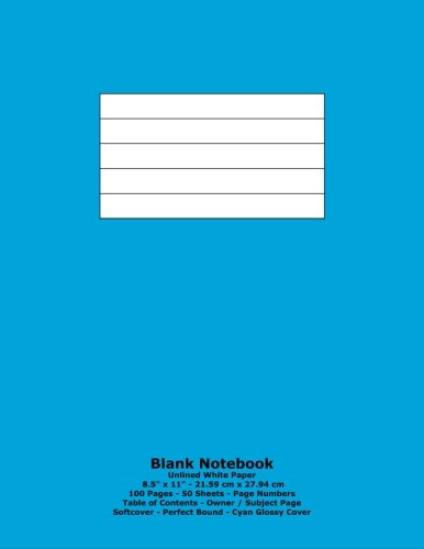 Blank Notebook: Unlined White Paper - 8.5