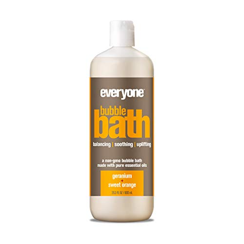 Everyone Natural Bubble Bath, Geranium and Sweet Orange, 20 Ounce