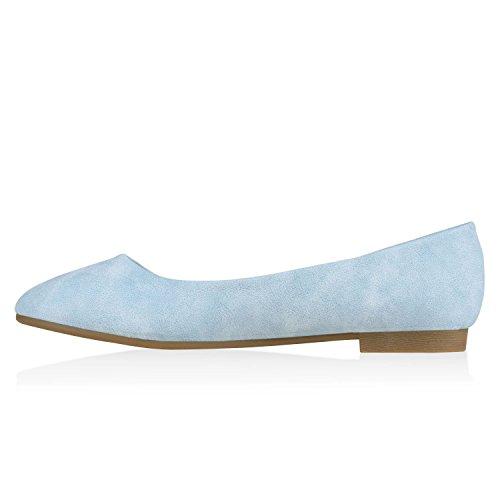 Stiefelparadies Himmelblau Übergrößen Flandell Elegante Optik Abiball Flats Slip Glitzer Leder Slipper Strass Klassische On Ballerinas Schuhe Damen r1Orga