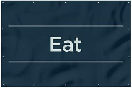 12x8 CGSignLab Eat Basic Navy Heavy-Duty Outdoor Vinyl Banner