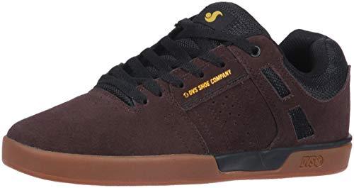 DVS Men's Skate Shoe, Chocolate Brown/Black Suede Getz, 13 Medium US