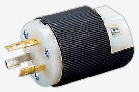 HUBBELL WIRING DEVICES HBL2311 TWIST LOCK PLUG, 2P3W, 20A 125V, L5-20P