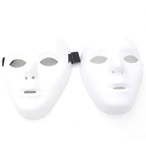 Kvvdi Scary White Blank Face Masks Halloween DIY (Female+Male, White) -