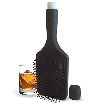Smuggle Your Booze SYB-Brush-1 6 Oz. Hairbrush Hidden Flask and Funnel, Black