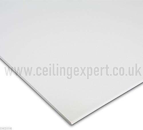 Suspended Vinyl PVC Gypsum Laminated Tiles - Easy Clean & Wipe Able 1195mm x 595mm Waterproof 1200x600 CEILING EXPERT