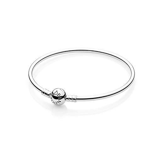 - PANDORA 590713-17 Sterling Silver Bangle Bracelet, 6.7 Inch