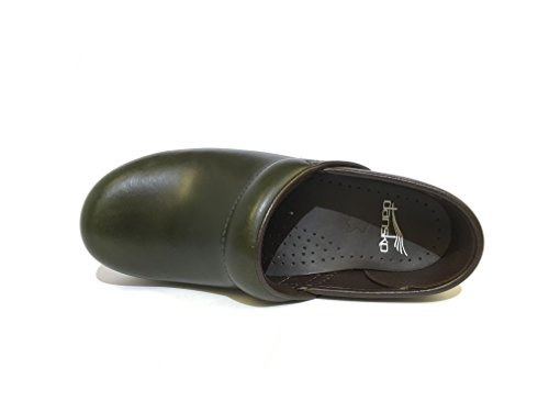 Zoccolo Dansko Professional Full Grain Green - Size:39