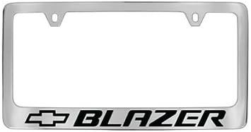 Chevy Blazer Chrome License Plate Frame with Caps