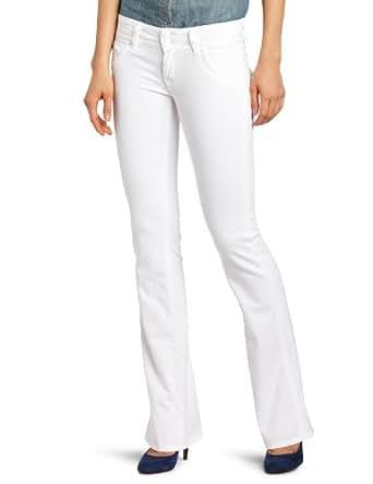 Hudson Jeans Women's Signature Petite Bootcut Flap Pocket Jean, White, 32