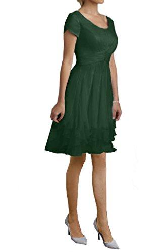 Strati Da Promenade Di Per Cacciatore Manica Vestito Verde Sera Elegante A Lungo Avril Vestito Le Corta Volant Donne x8FXwqF