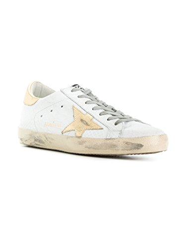 Gouden Gans Mannen G32ms590d88 Witte Lederen Sneakers
