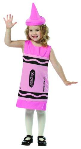 Rasta Imposta Crayola Tank Dress, 7-10, Tickle Me (Pink Crayon Costume)
