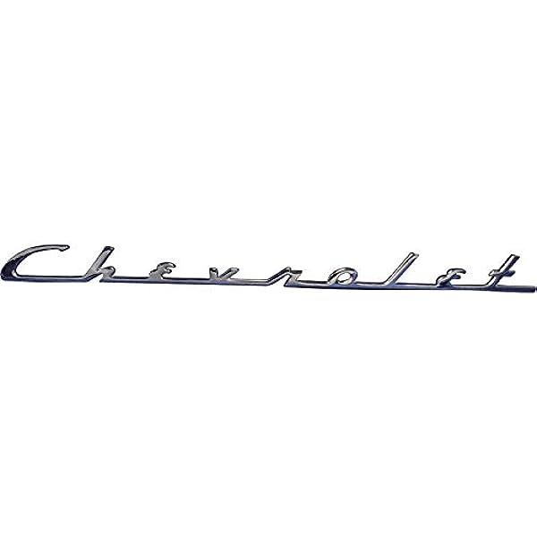 Chrome 1954 Chevrolet Script Trunk Emblem KNS Accessories KC4503 OEM Reproduction Sold as Each