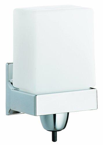Bradley 6501-000000 Surface Mount Short Rectangular Soap Dispenser, 24 oz. Capacity, 7-5/8