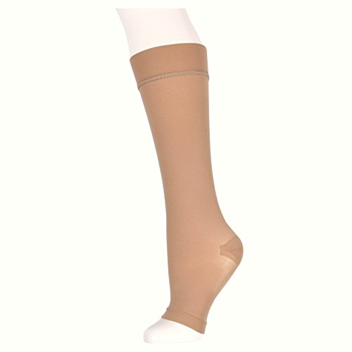 17 Shopper (ZaryzzA Compression Stockings, Open Toe Compression Socks, Graduated Support, Knee High, 15-20mm Hg (1 pair))
